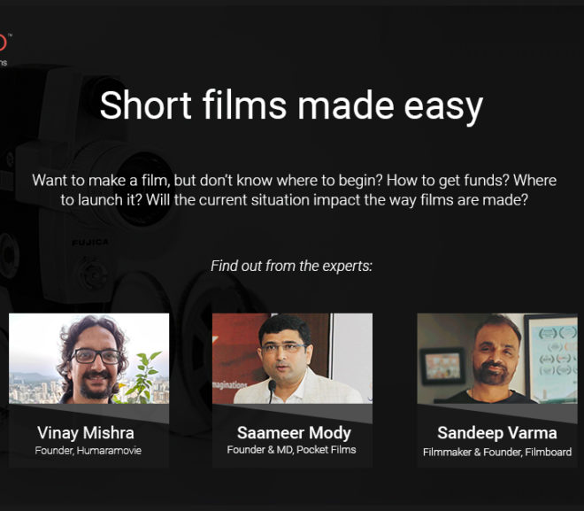 Short films made easy – watched the webinar yet?